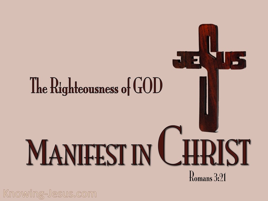 Romans 3-21 Righteousnesss of God-pink